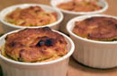 No Woman Spoon Bread with Bacon & Onions