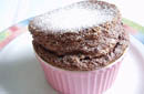 Hot Chocolate Souffle with Chocolate Sauce